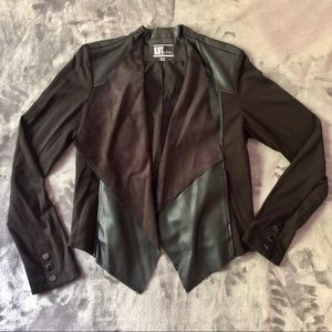 Faux Leather and Suede Jacket